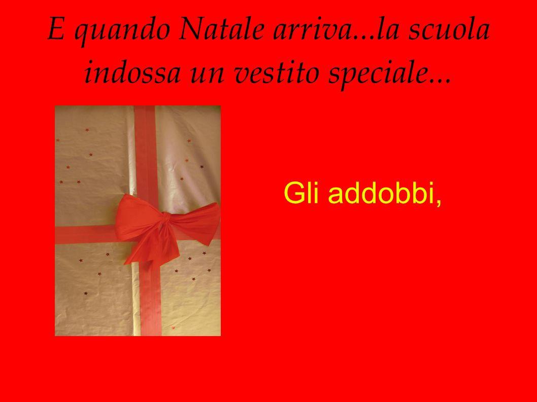 E quando Natale arriva...la scuola indossa un vestito speciale... Gli addobbi,