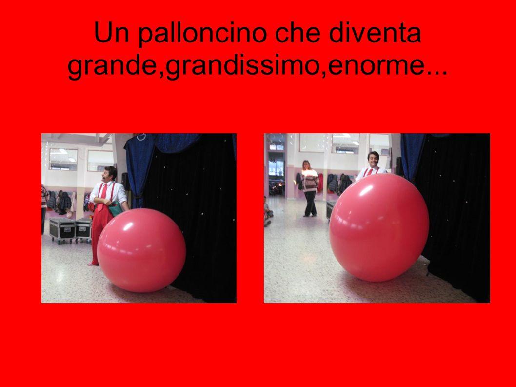 Un palloncino che diventa grande,grandissimo,enorme...