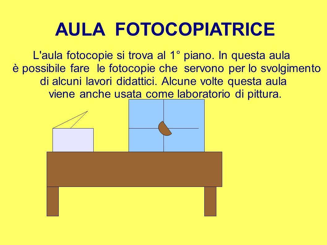 AULA FOTOCOPIATRICE L'aula fotocopie si trova al 1° piano. In questa aula è possibile fare le fotocopie che servono per lo svolgimento di alcuni lavor