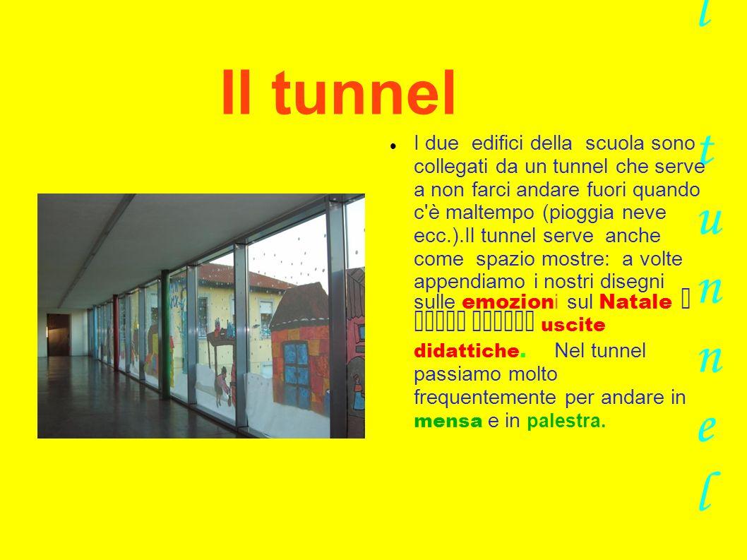 Il tunnel Il tunnel I due edifici della scuola sono collegati da un tunnel che serve a non farci andare fuori quando c'è maltempo (pioggia neve ecc.).