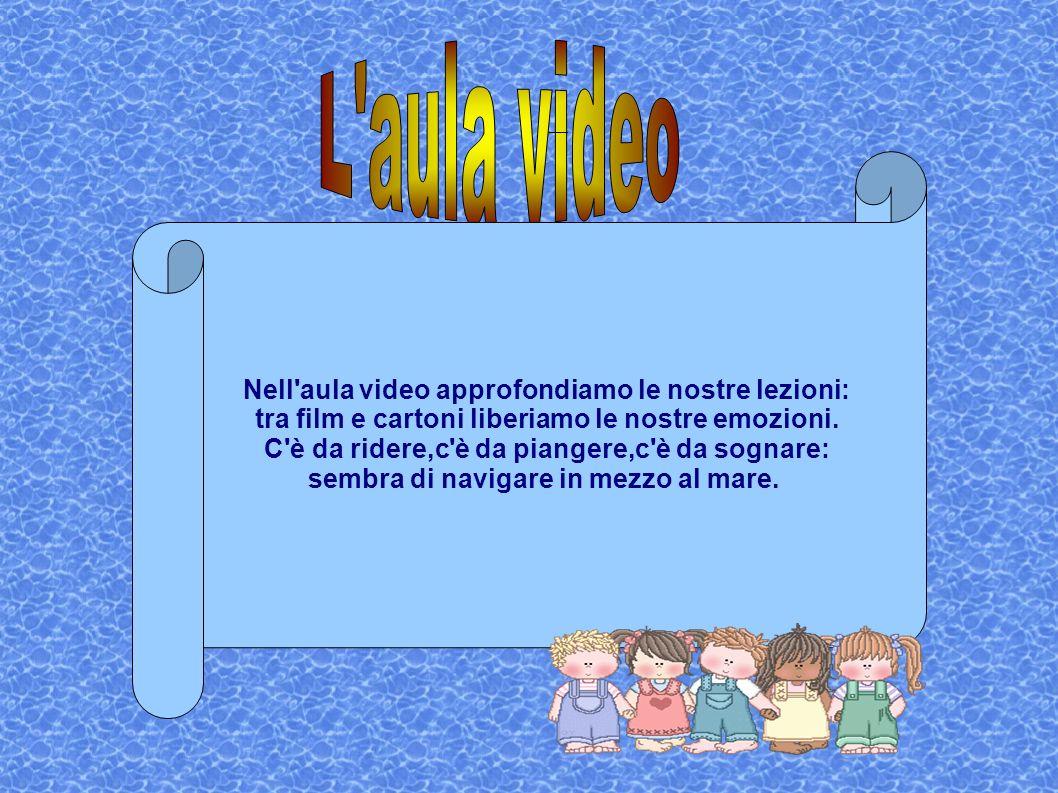 Nell'aula video approfondiamo le nostre lezioni: tra film e cartoni liberiamo le nostre emozioni. C'è da ridere,c'è da piangere,c'è da sognare: sembra