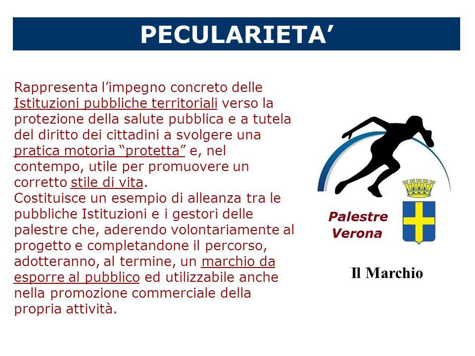 PECULARIETA Rappresenta limpegno concreto delle Istituzioni pubbliche territoriali verso la protezione della salute pubblica e a tutela del diritto de