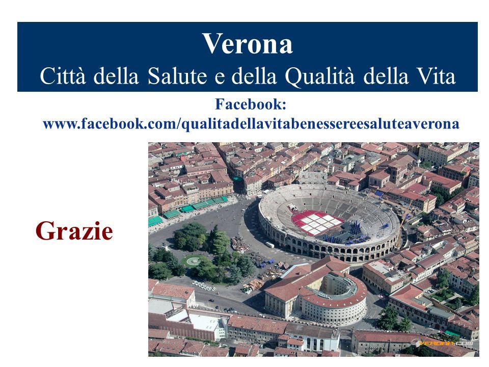 Verona Città della Salute e della Qualità della Vita Grazie Facebook: www.facebook.com/qualitadellavitabenessereesaluteaverona