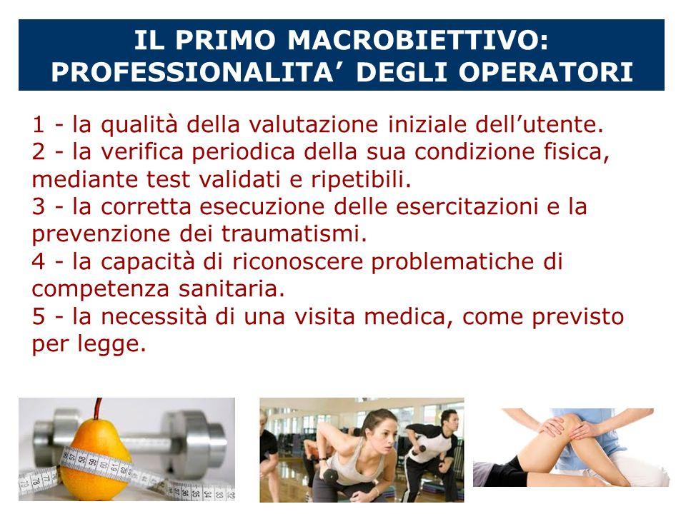IL PRIMO MACROBIETTIVO: PROFESSIONALITA DEGLI OPERATORI 1 - la qualità della valutazione iniziale dellutente. 2 - la verifica periodica della sua cond