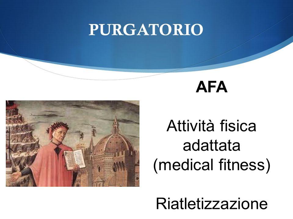 PURGATORIO AFA Attività fisica adattata (medical fitness) Riatletizzazione
