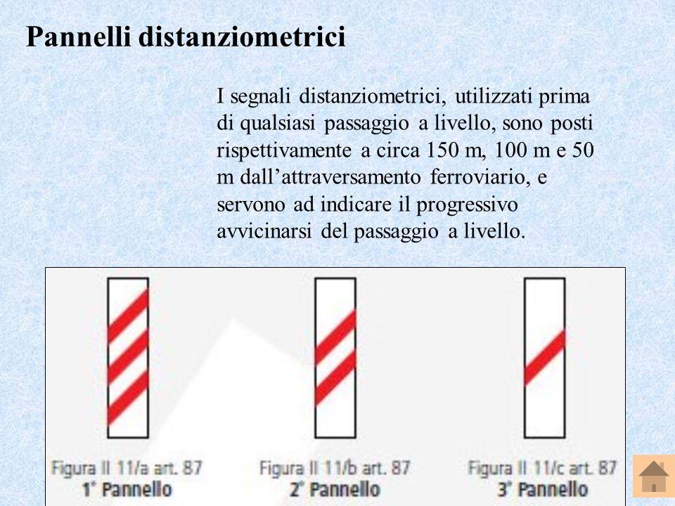 Professore Perpiglia Giuseppe - 23 I segnali distanziometrici, utilizzati prima di qualsiasi passaggio a livello, sono posti rispettivamente a circa 1