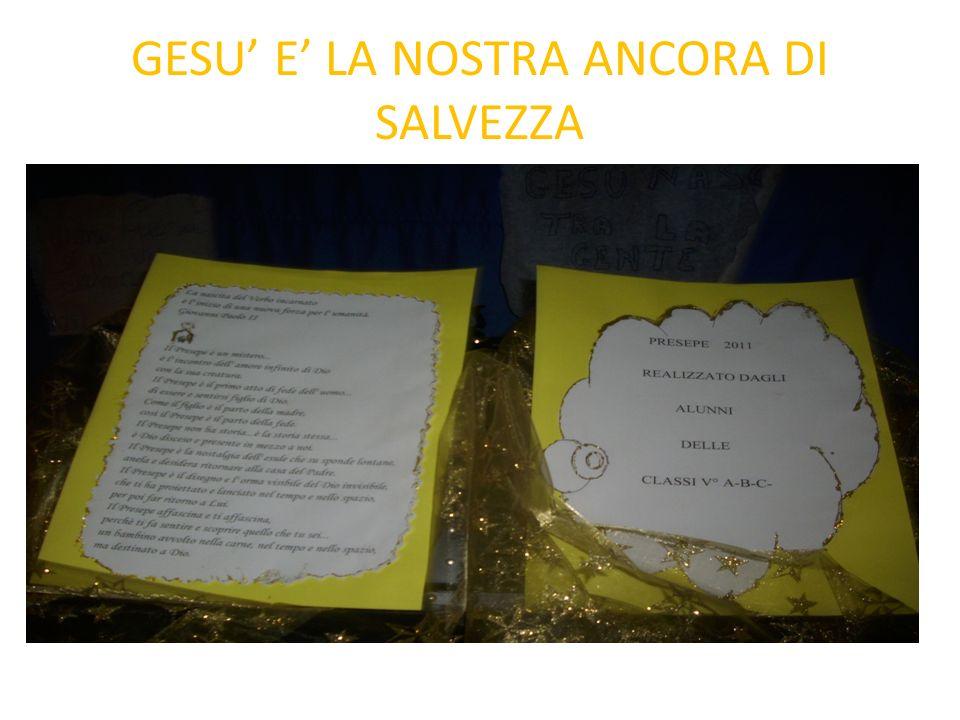 GESU E LA NOSTRA ANCORA DI SALVEZZA
