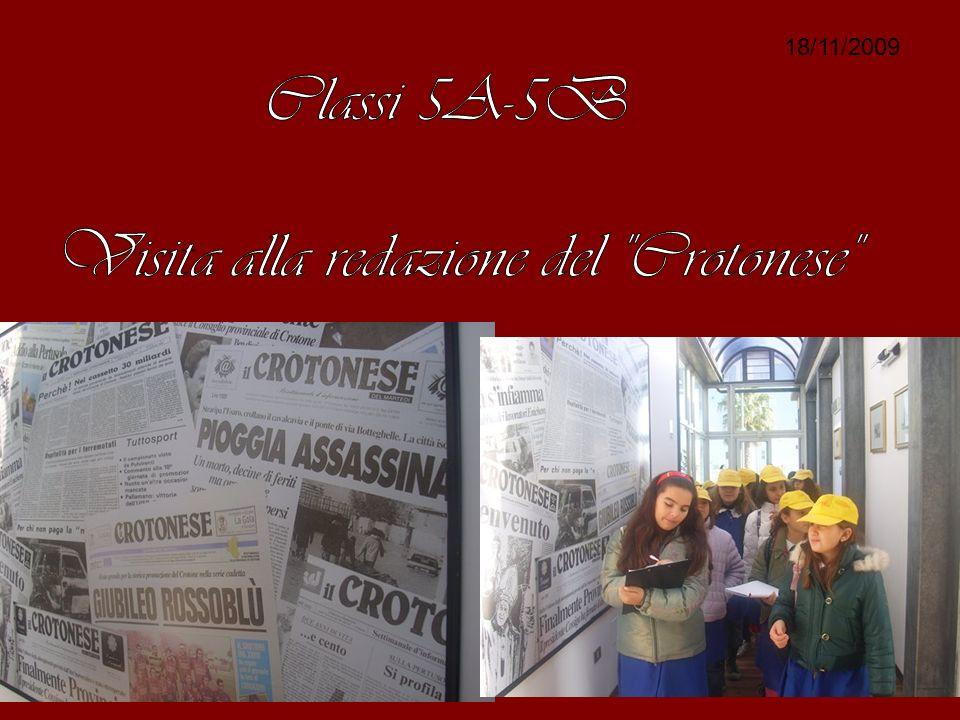 IN VISITA AL Crotonese: COME NASCE UN Giornale.
