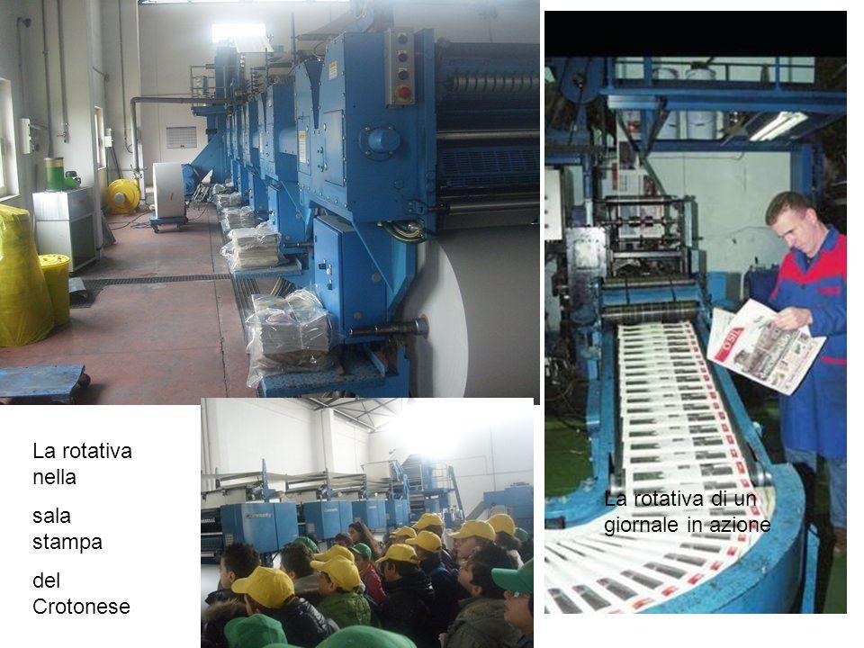 La rotativa di un giornale in azione La rotativa nella sala stampa del Crotonese