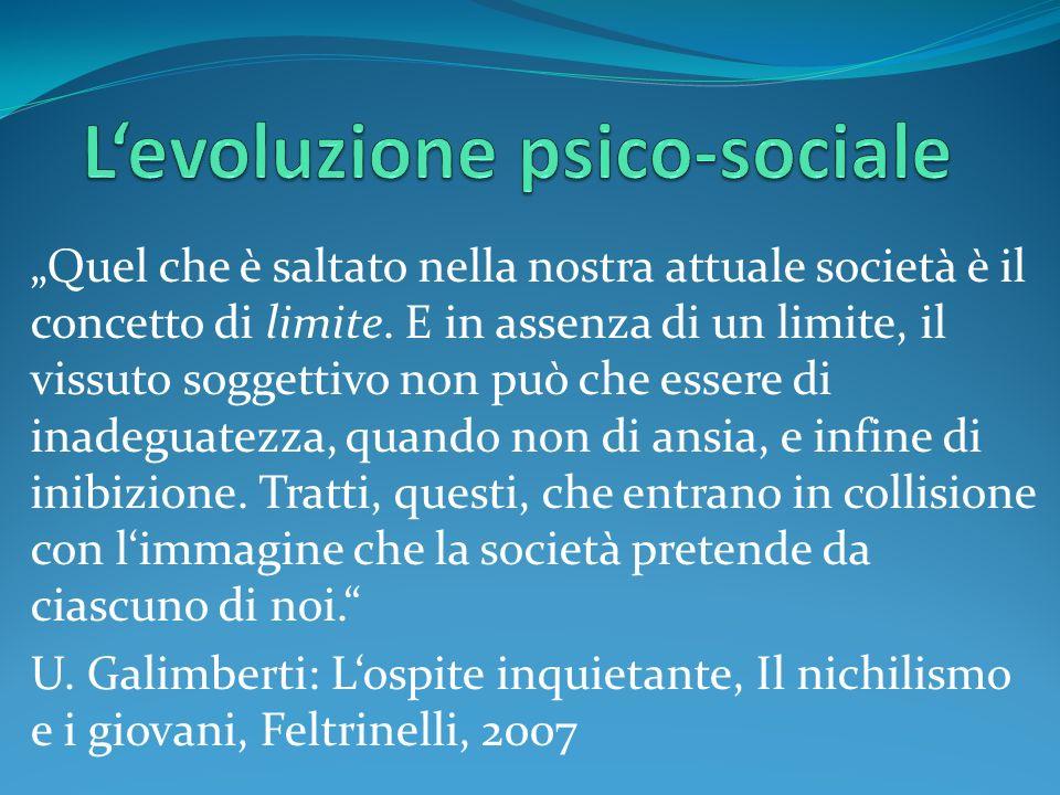 Levoluzione psico-sociale
