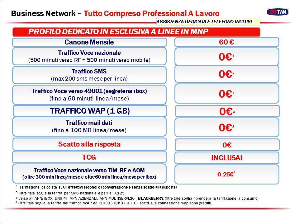 Traffico Voce nazionale (2000 min.verso TIM, RF, VO e W + 500 min.