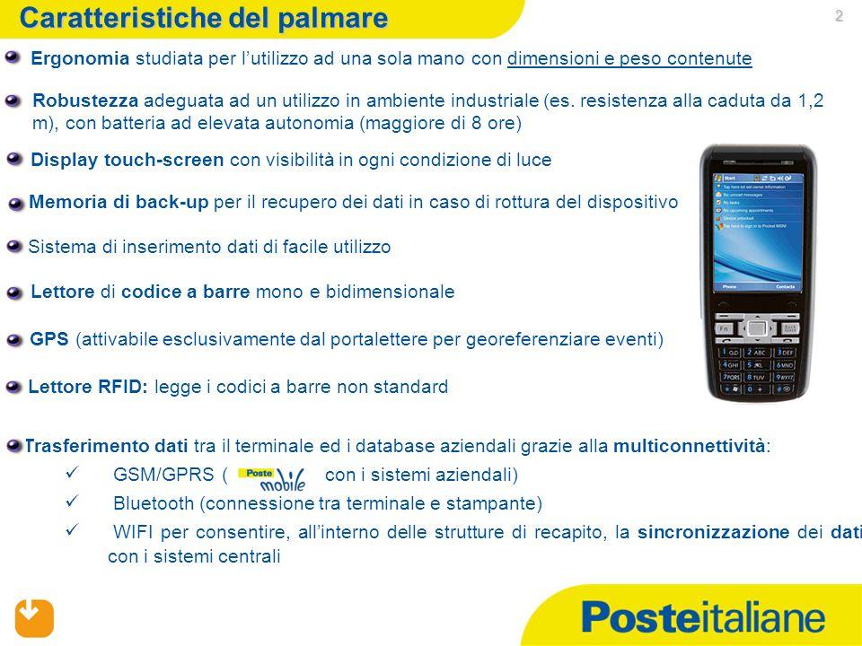 1 Palmari portalettere: obiettivo del progetto Il progetto Palmari portalettere ha lobiettivo di informatizzare i servizi di recapito attualmente erog