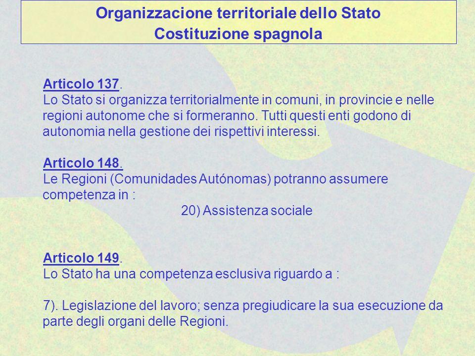 Articolo 137. Lo Stato si organizza territorialmente in comuni, in provincie e nelle regioni autonome che si formeranno. Tutti questi enti godono di a