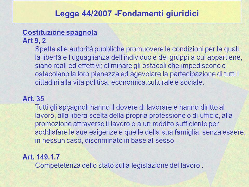Costituzione spagnola Art 9, 2. Spetta alle autoritá pubbliche promuovere le condizioni per le quali, la libertá e luguaglianza dellindividuo e dei gr