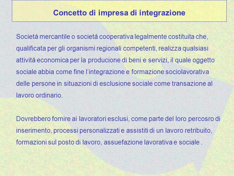 Societá mercantile o societá cooperativa legalmente costituita che, qualificata per gli organismi regionali competenti, realizza qualsiasi attivitá ec