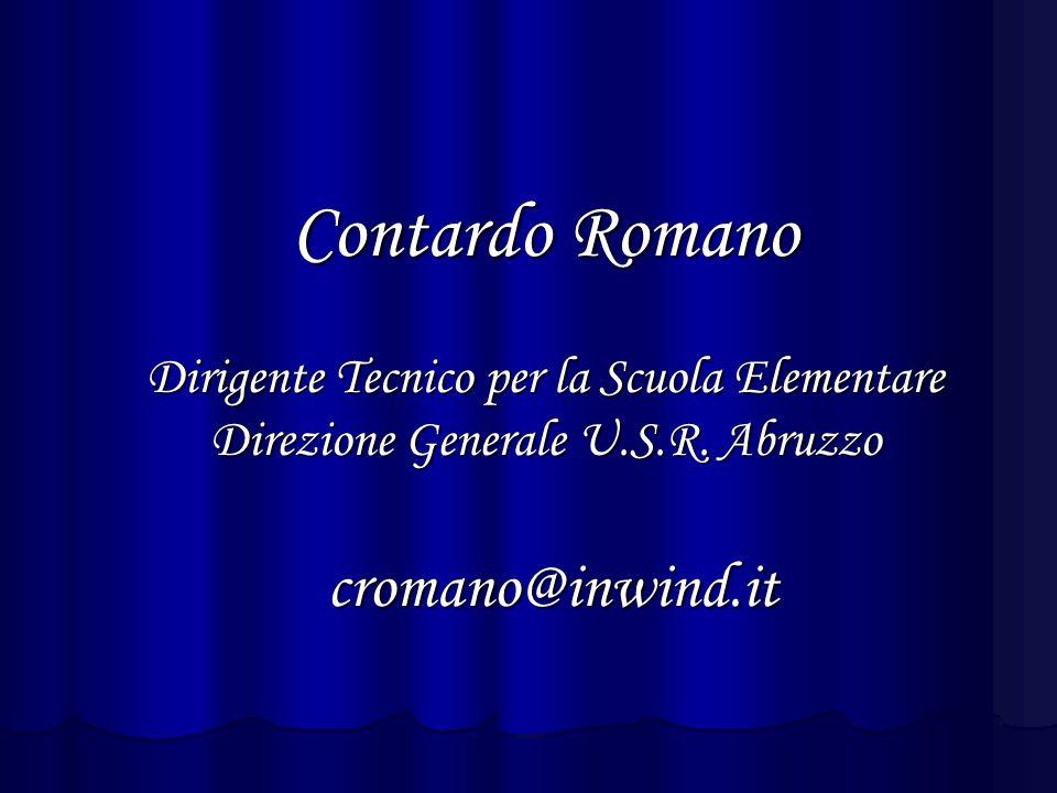 Contardo Romano Dirigente Tecnico per la Scuola Elementare Direzione Generale U.S.R.