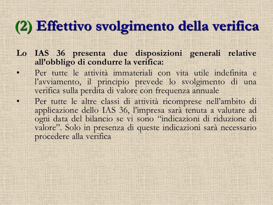 Attività immateriali con vita utile indefinita + avviamento Tutte le altre classi di attività (es.