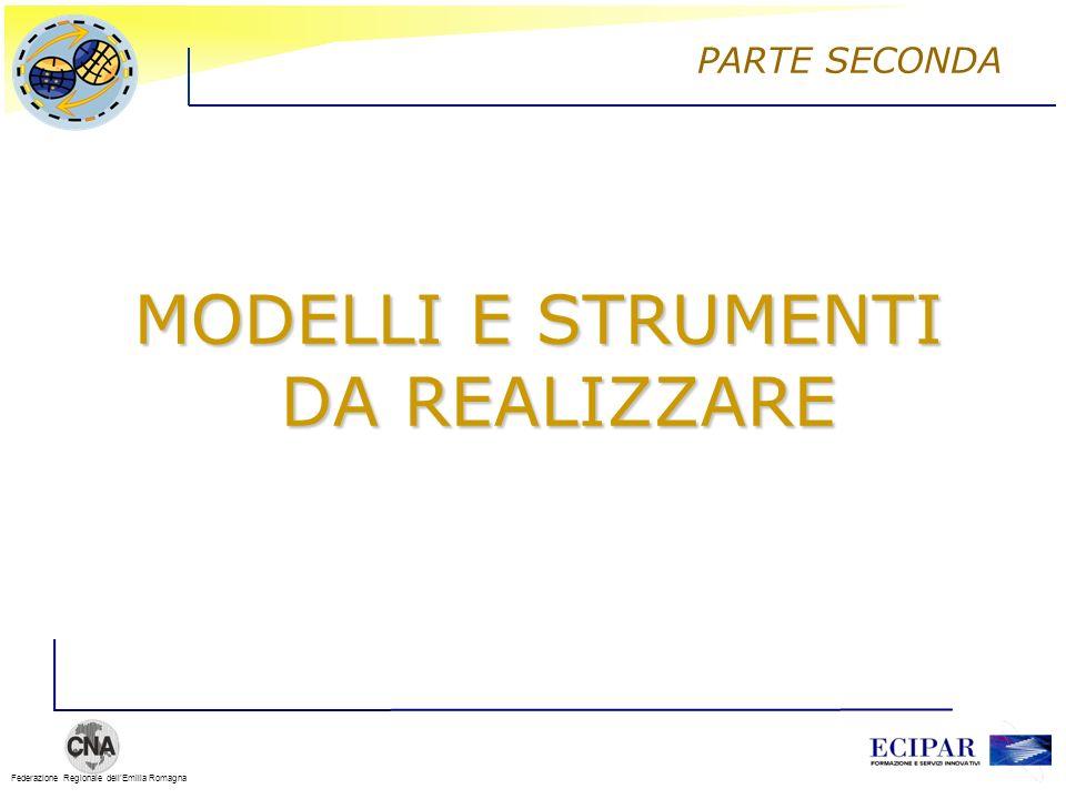 Federazione Regionale dellEmilia Romagna MODELLI E STRUMENTI DA REALIZZARE PARTE SECONDA