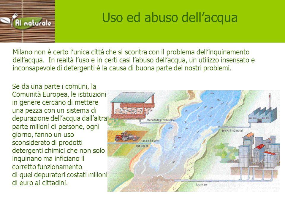 Uso e abuso dellacqua Milano non è certo lunica città che si scontra con il problema dellinquinamento dellacqua. In realtà luso e in certi casi labuso