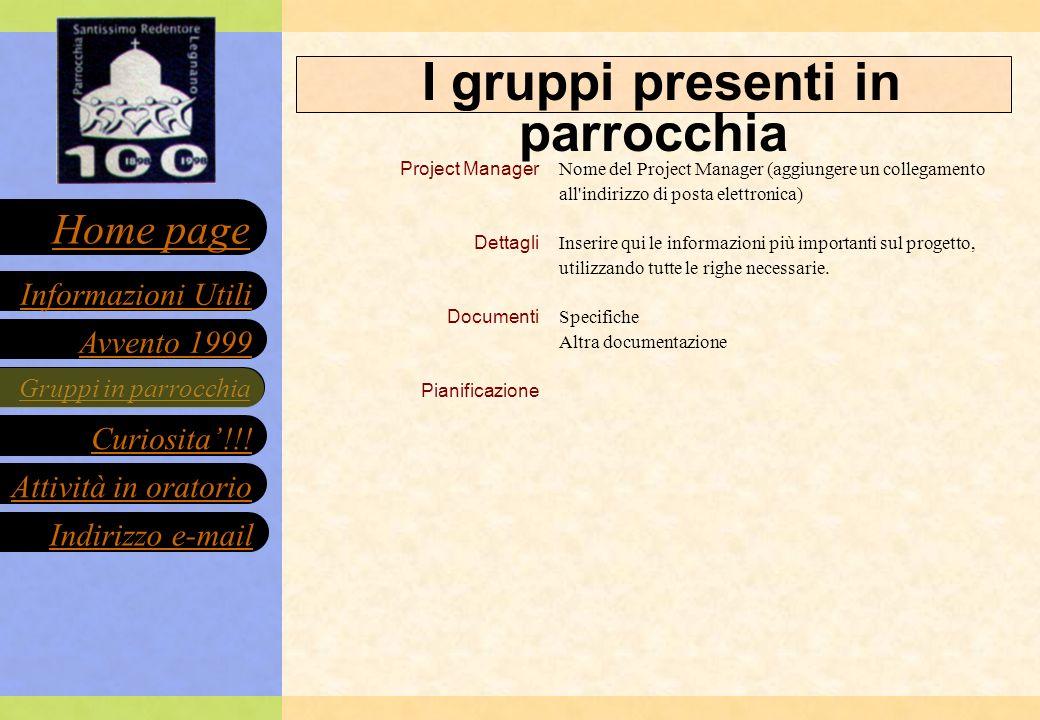 Gruppi in parrocchia Curiosita!!.