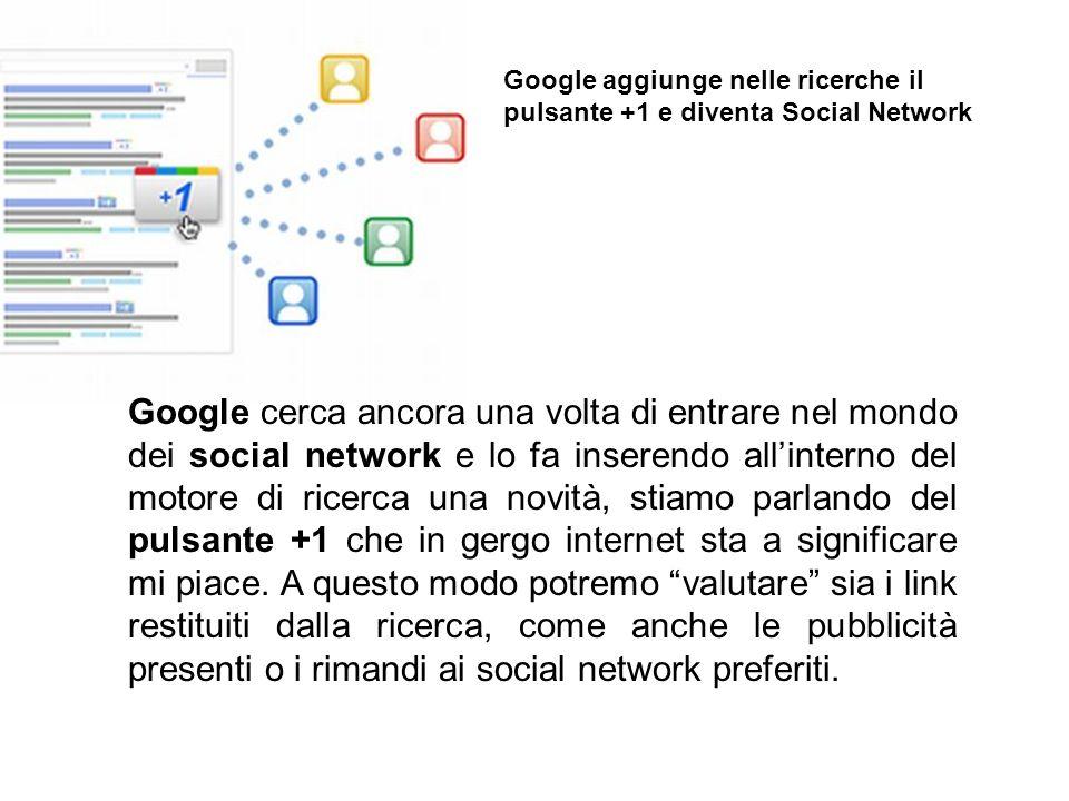 Google cerca ancora una volta di entrare nel mondo dei social network e lo fa inserendo allinterno del motore di ricerca una novità, stiamo parlando d