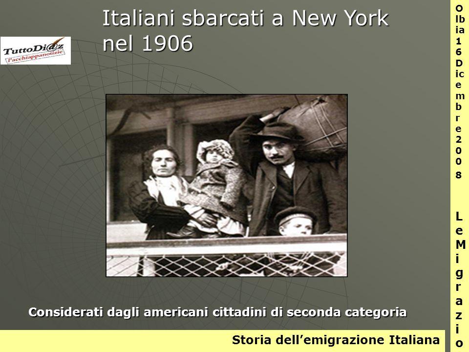 Storia dellemigrazione Italiana O lb ia 1 6 D ic e m b r e 2 0 0 8 L e M i g r a z i o n i Bambini in viaggio