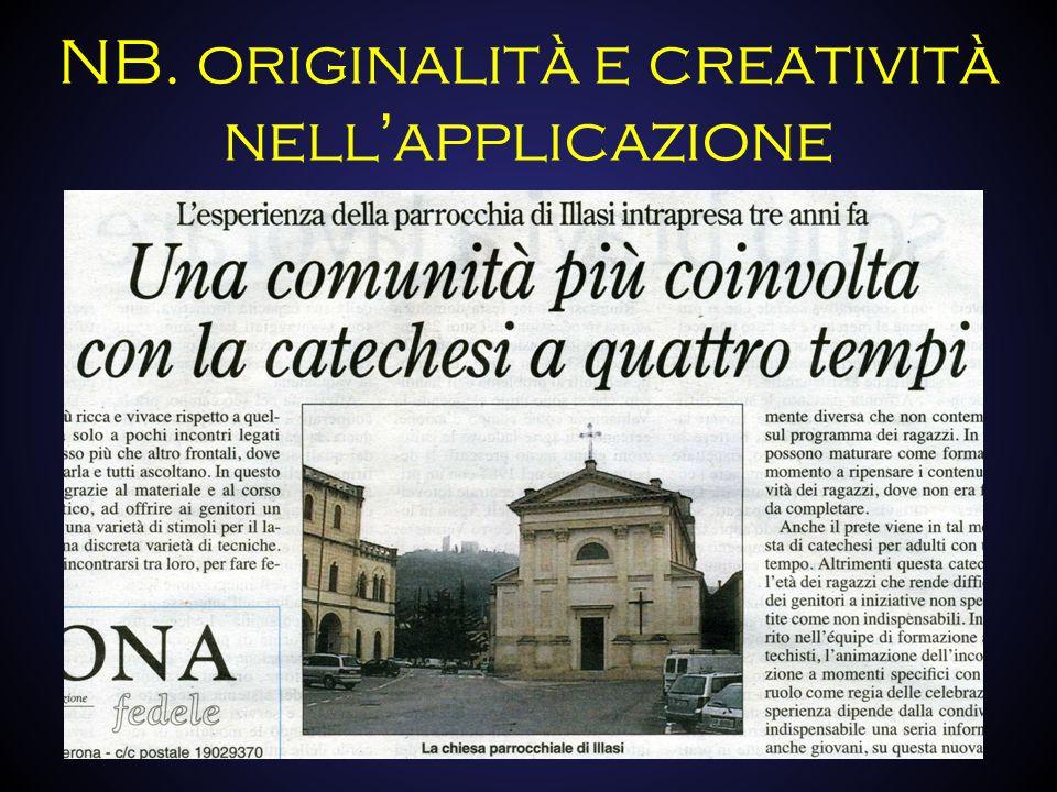 NB. originalità e creatività nellapplicazione
