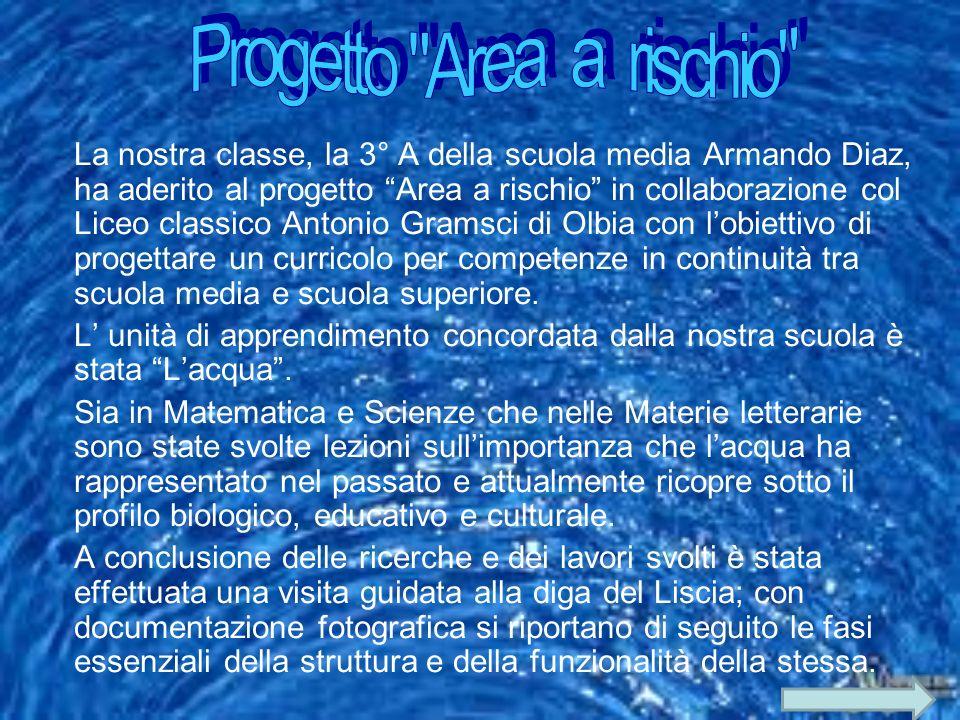 La nostra classe, la 3° A della scuola media Armando Diaz, ha aderito al progetto Area a rischio in collaborazione col Liceo classico Antonio Gramsci