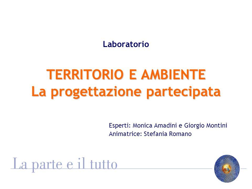 TERRITORIO E AMBIENTE La progettazione partecipata Laboratorio TERRITORIO E AMBIENTE La progettazione partecipata Esperti: Monica Amadini e Giorgio Mo