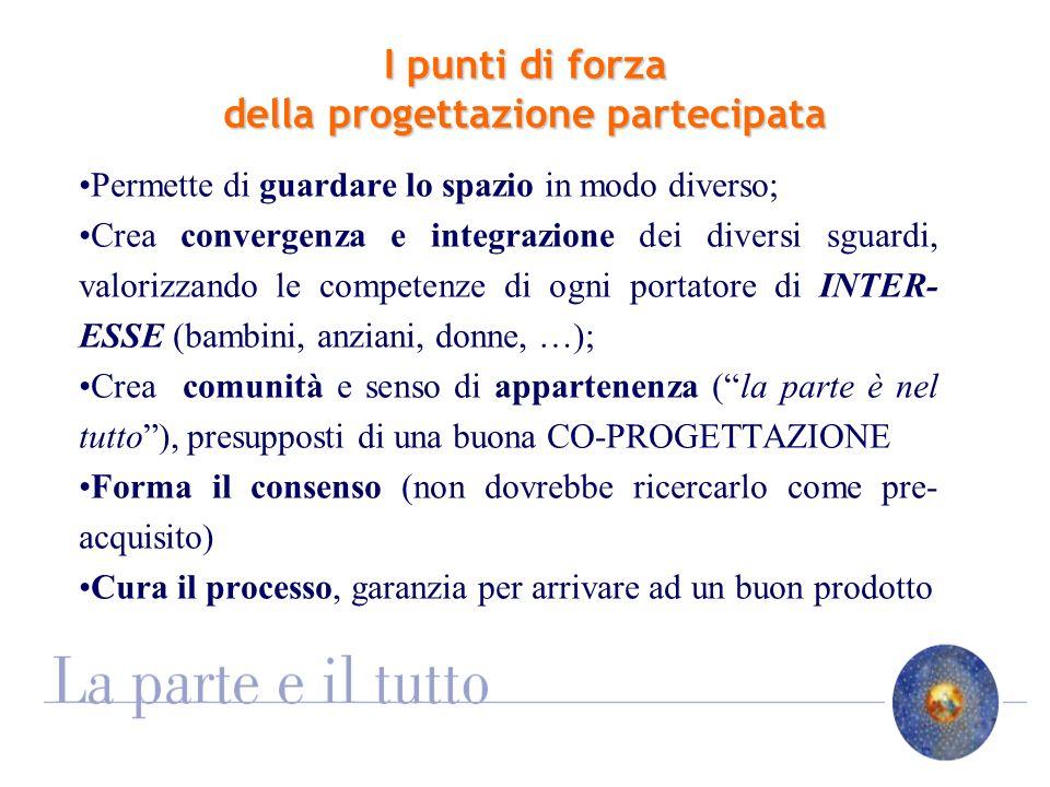 I punti di debolezza della progettazione partecipata Responsabilità dellesito: chi risponde del progetto partecipato.