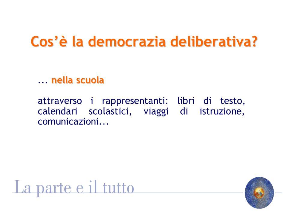 Cosè la democrazia deliberativa. nella scuola...