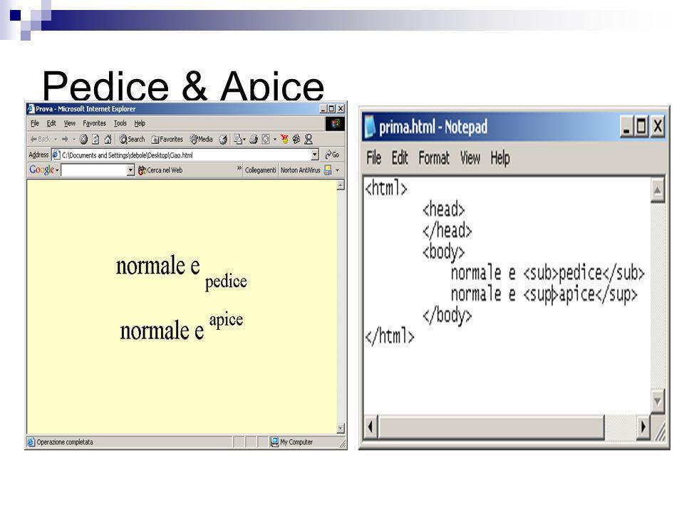 Pedice & Apice