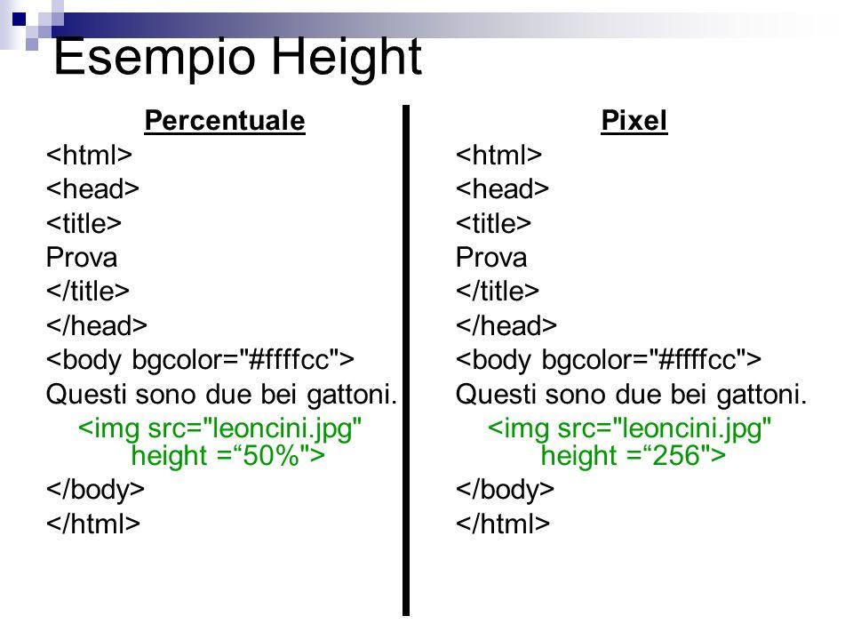 Esempio Height Percentuale Prova Questi sono due bei gattoni. Pixel Prova Questi sono due bei gattoni.