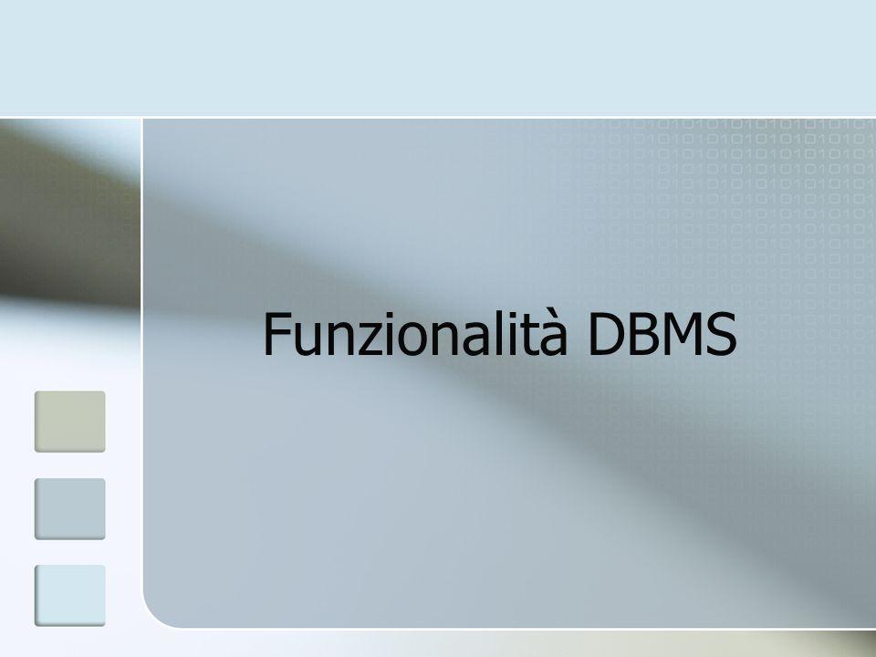 Funzionalità DBMS