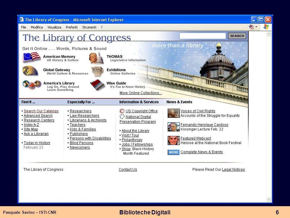 Pasquale Savino – ISTI-CNR Biblioteche Digitali6 Library of Congress