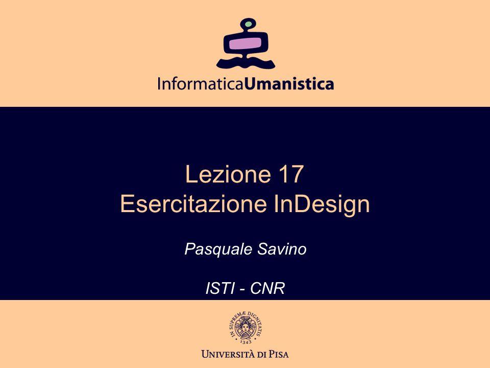 Pasquale Savino – ISTI-CNR 2 Editoria Elettronica (Biblioteche Digitali) – a.a.