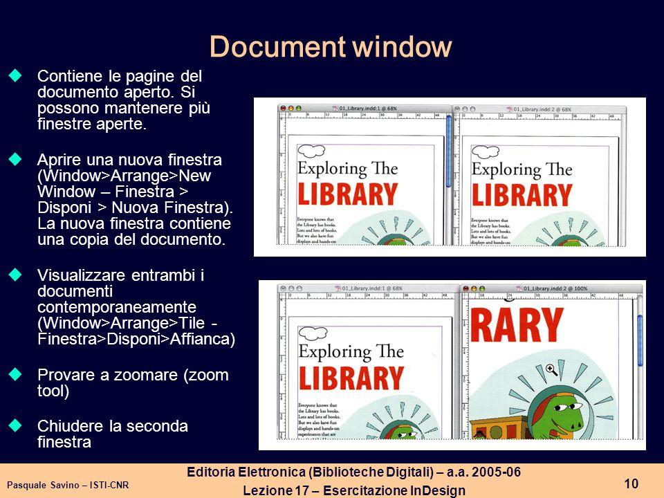 Pasquale Savino – ISTI-CNR 11 Editoria Elettronica (Biblioteche Digitali) – a.a.