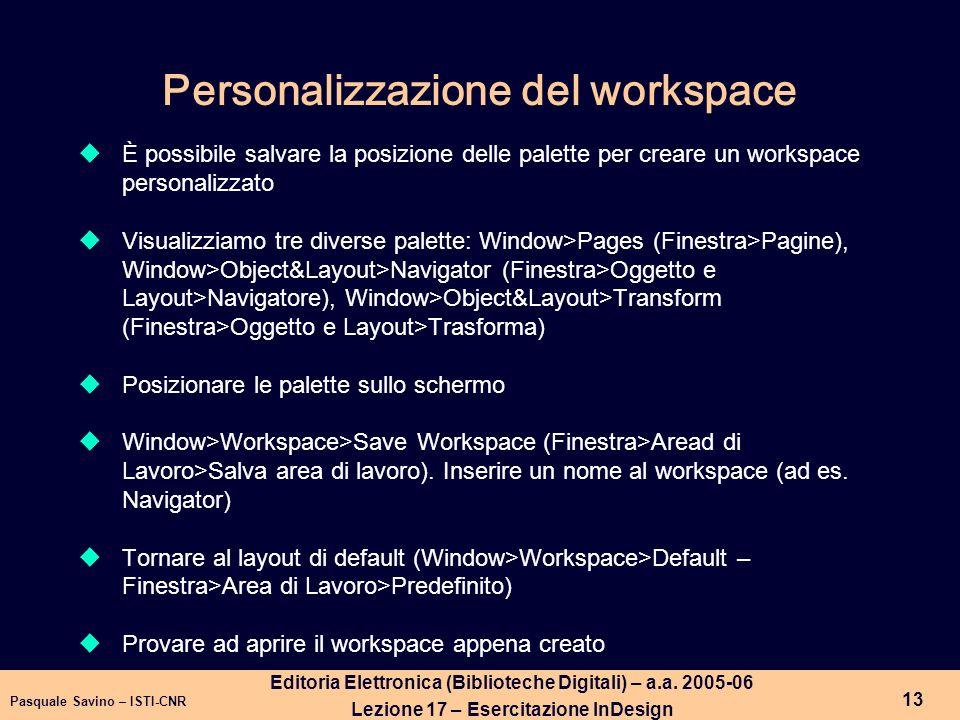 Pasquale Savino – ISTI-CNR 14 Editoria Elettronica (Biblioteche Digitali) – a.a.