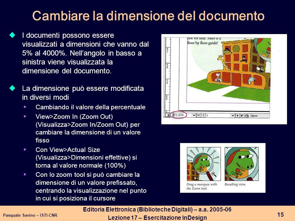Pasquale Savino – ISTI-CNR 16 Editoria Elettronica (Biblioteche Digitali) – a.a.