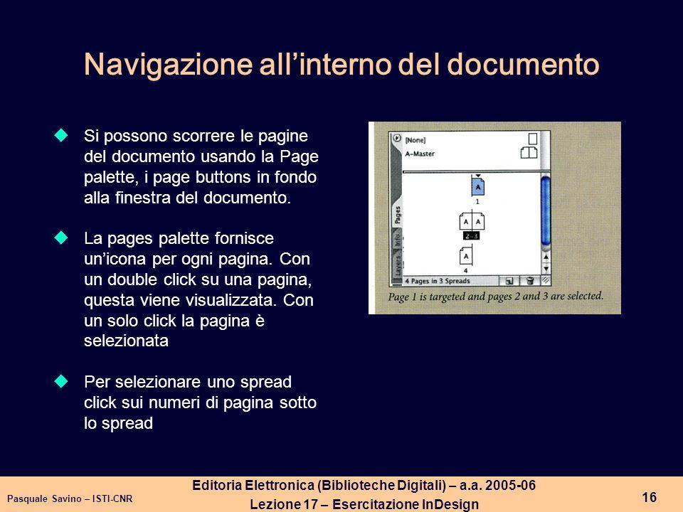 Pasquale Savino – ISTI-CNR 17 Editoria Elettronica (Biblioteche Digitali) – a.a.