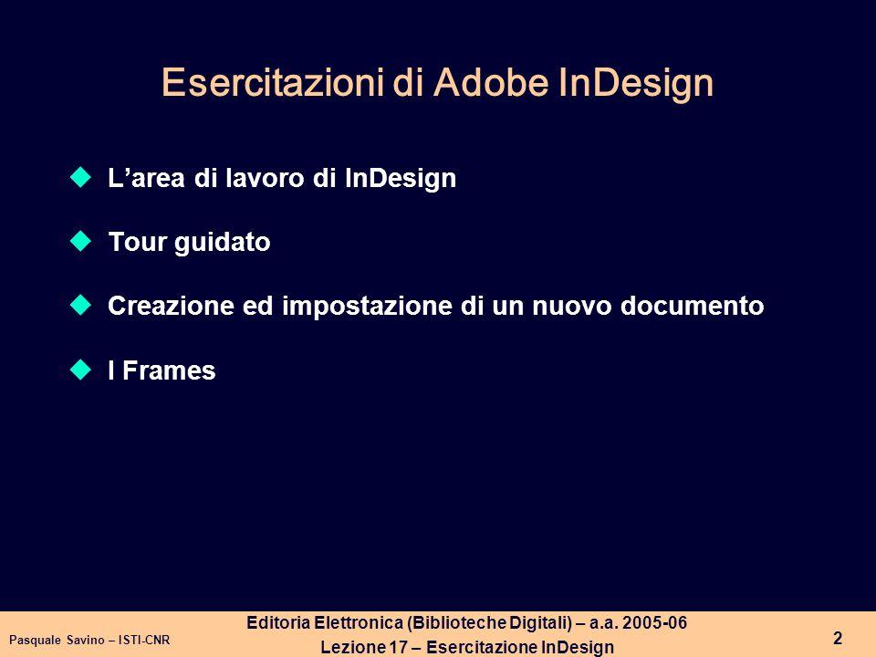 Pasquale Savino – ISTI-CNR 3 Editoria Elettronica (Biblioteche Digitali) – a.a.