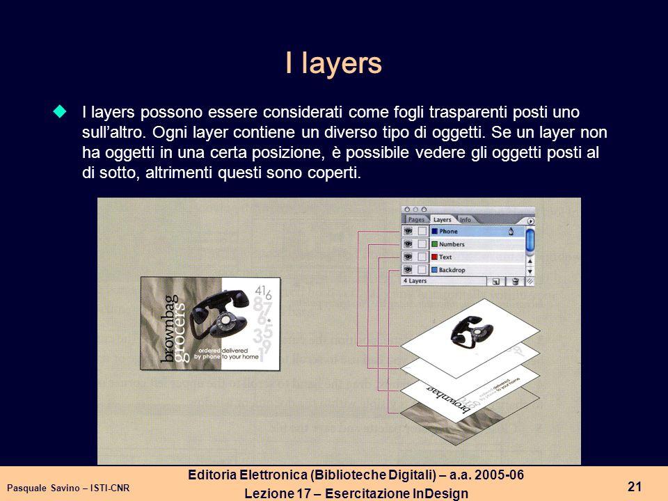 Pasquale Savino – ISTI-CNR 22 Editoria Elettronica (Biblioteche Digitali) – a.a.