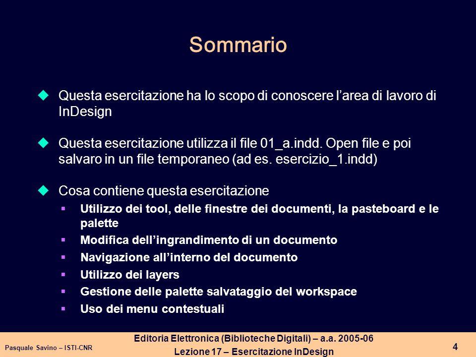 Pasquale Savino – ISTI-CNR 5 Editoria Elettronica (Biblioteche Digitali) – a.a.