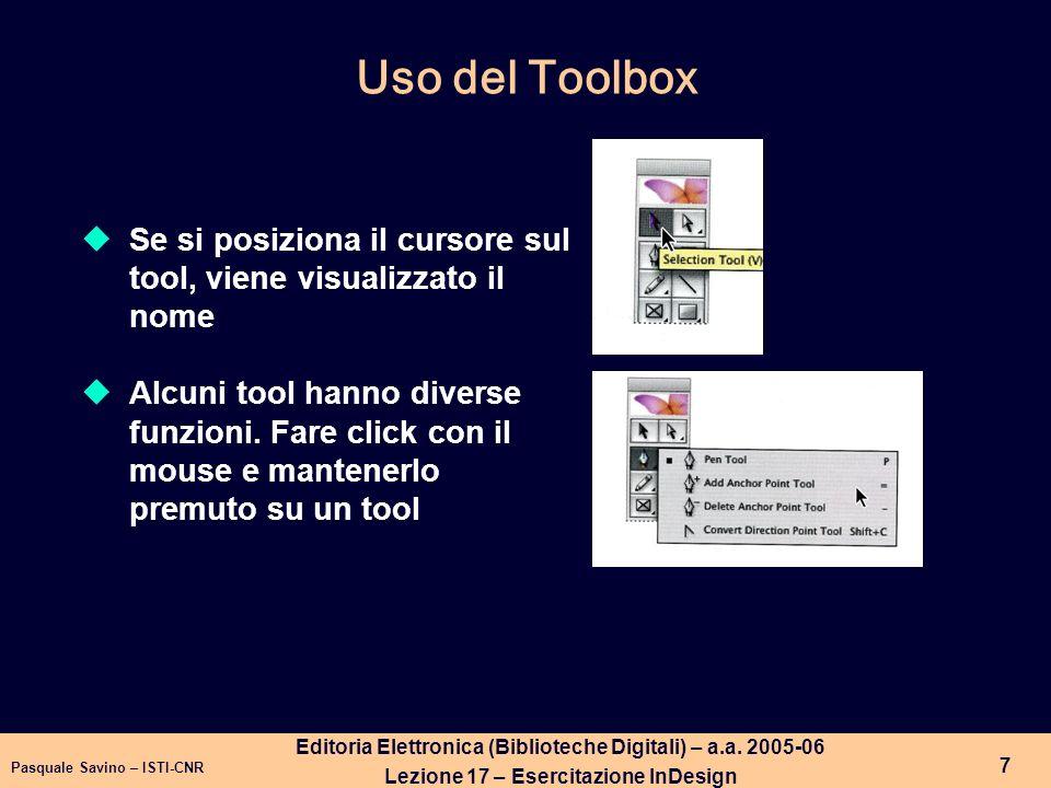 Pasquale Savino – ISTI-CNR 8 Editoria Elettronica (Biblioteche Digitali) – a.a.