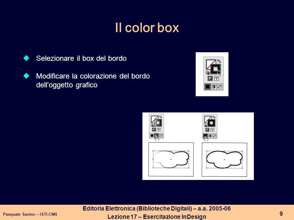 Pasquale Savino – ISTI-CNR 10 Editoria Elettronica (Biblioteche Digitali) – a.a.