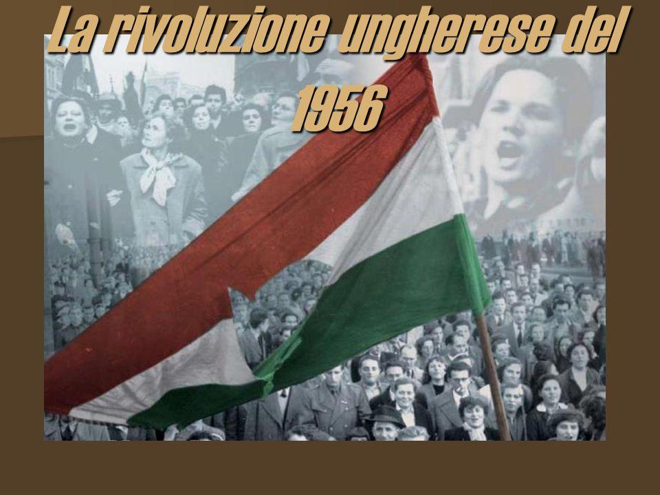 Il contesto storico Nel 1956 la popolazione ungherese é stata la protagonista di uno dei piú drammatici tentativi di liberarsi allImpero Sovietico, che dopo la seconda guerra mondiale aveva imposto il suo potere sulle nazioni liberate dallArmata Rossa.