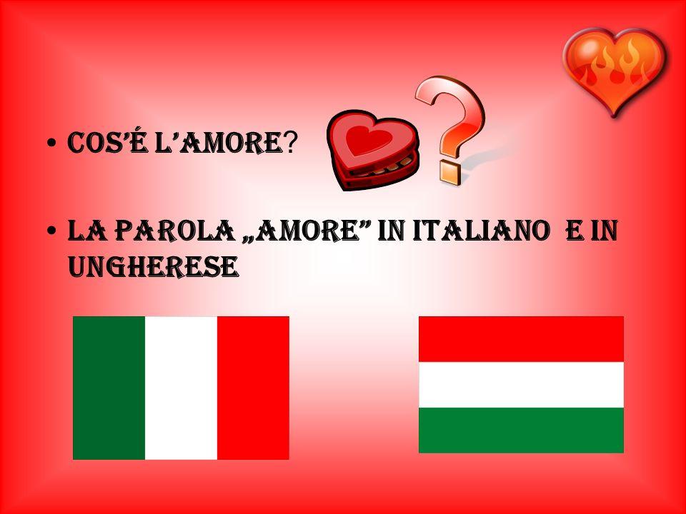 Cosé lamore ? la parola amore in italiano e in ungherese