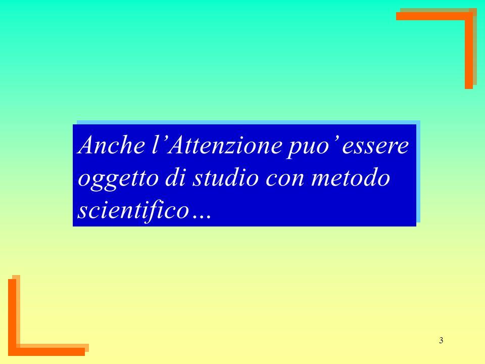 3 Anche lAttenzione puo essere oggetto di studio con metodo scientifico…
