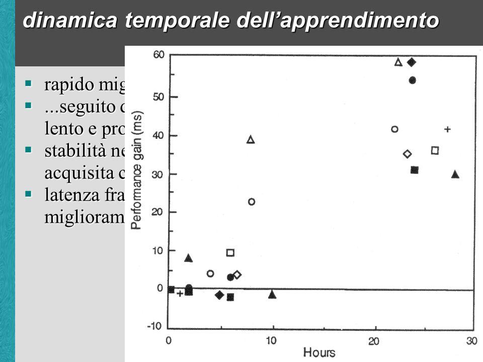 dinamica temporale dellapprendimento rapido miglioramento iniziale...