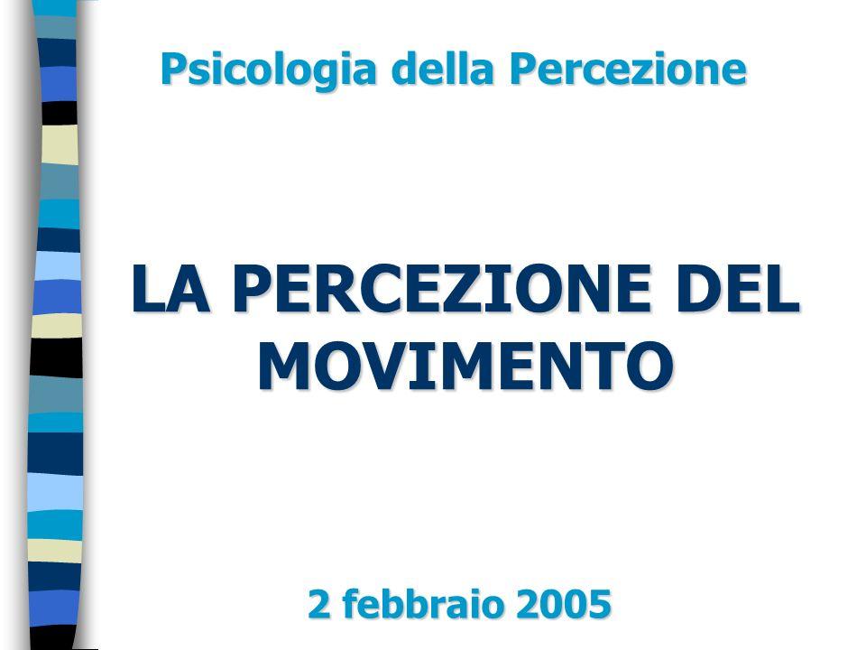 LA PERCEZIONE DEL MOVIMENTO 2 febbraio 2005 Psicologia della Percezione